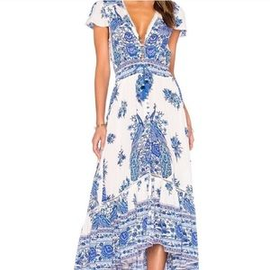 Spell hotel paradiso Maxi dress Blue Jay